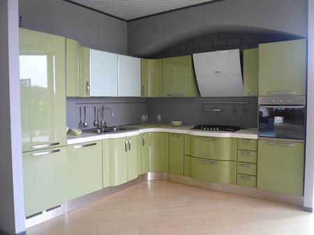 Cucina Lube laccata lucida spazzolata verde mela