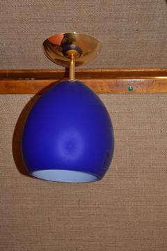 Lampada da soffitto blu e oro