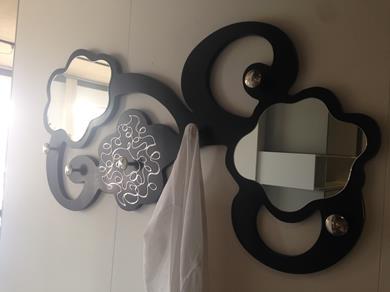 Appendiabiti con specchio