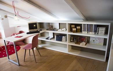 NIDI  libreria orizzontale con scrivania