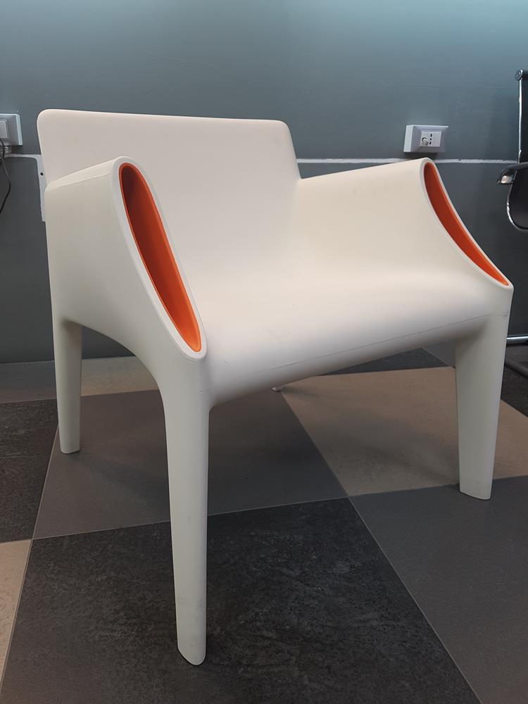KARTELL - Poltrona Magic Hole Bianco/Arancio