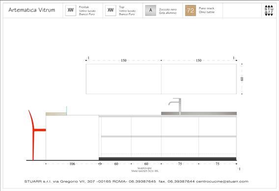 Valcucine modello Artematica Vitrum expò 3