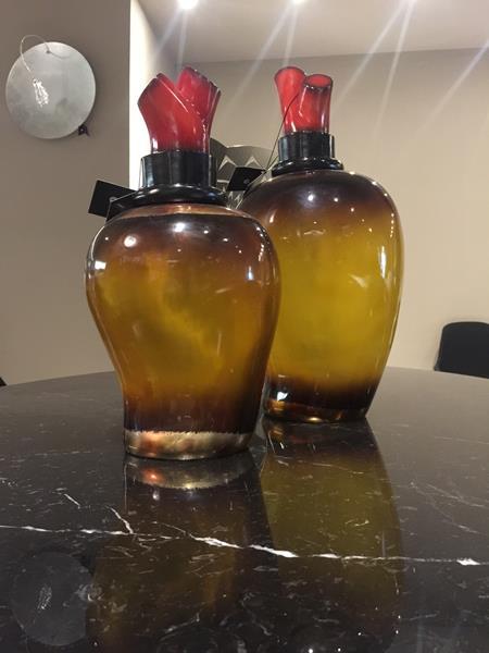 set 2 pezzi Vasi Cuore in resina - Lam Lee