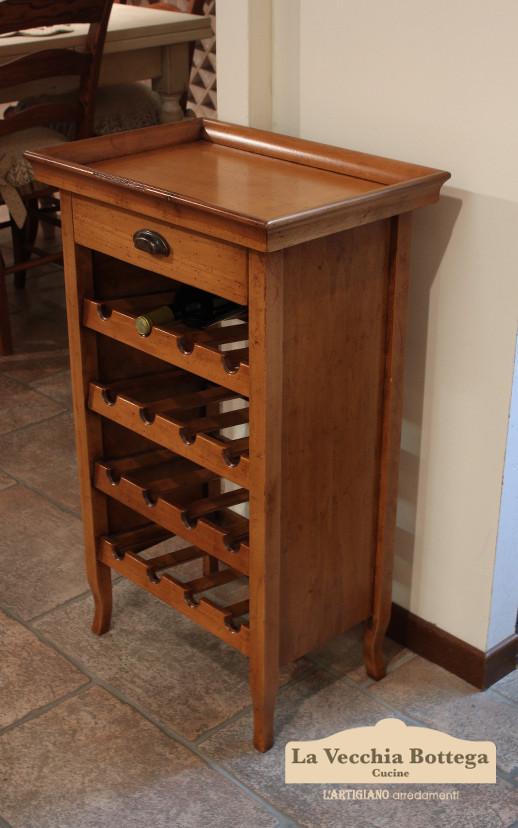 porta bottiglie in legno