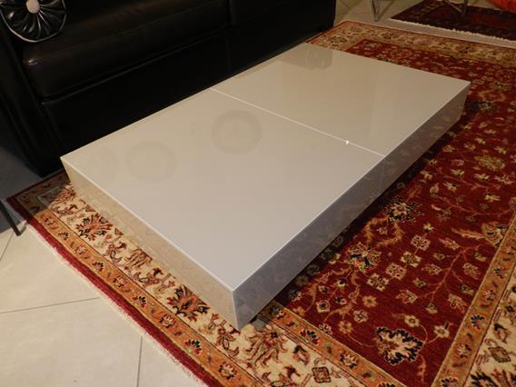 """Tavolo trasformabile """"Box"""" in cristallo 0"""