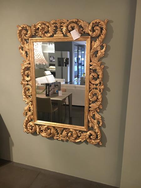 Specchiera foglia oro