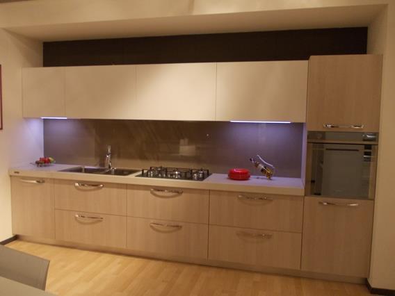 cucina moderna in laminato rovere