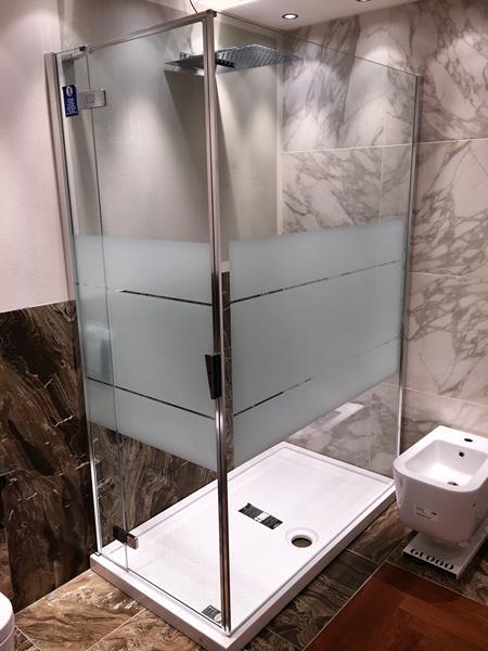 Box doccia con vetro serigrafato Duka serie pura